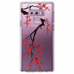 Etui na Samsung Galaxy Note 9 - Krzew kwitnącej wiśni.