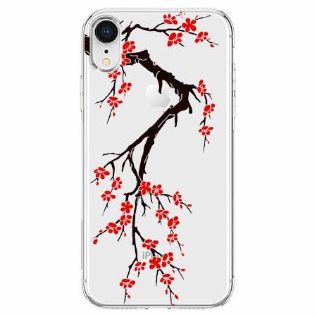 Etui na telefon Apple iPhone XR - Krzew kwitnącej wiśni.