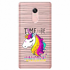 Etui na telefon Xiaomi Redmi 5 - Time to be unicorn - Jednorożec.