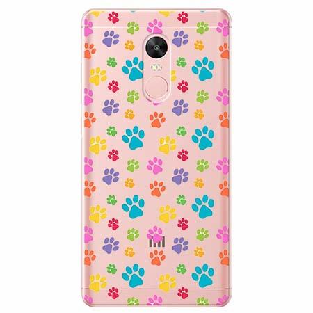 Etui na telefon Xiaomi Redmi 5 - Kolorowe psie łapki.