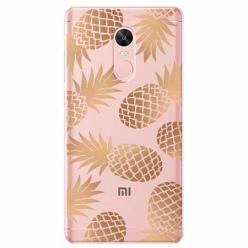 Etui na telefon Xiaomi Redmi 5 - Złote ananasy.