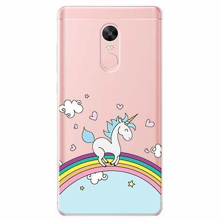 Etui na telefon Xiaomi Redmi 5 - Jednorożec na tęczy.