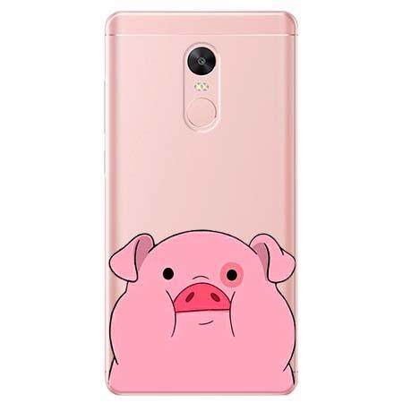 Etui na telefon Xiaomi Redmi 5 - Słodka różowa świnka.