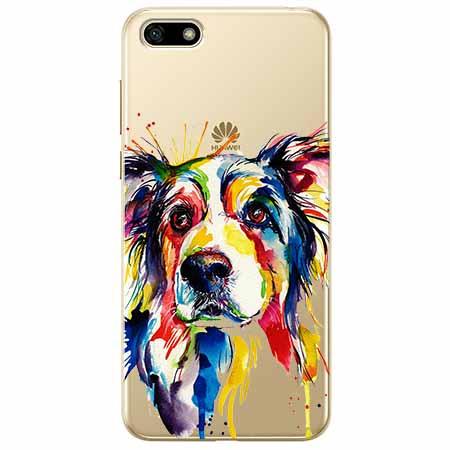 Etui na telefon Huawei Y5 2018 - Watercolor pies.