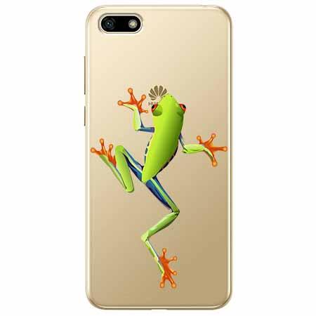 Etui na telefon Huawei Y5 2018 - Zielona żabka.