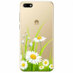 Etui na telefon Huawei Y5 2018 - Polne stokrotki.