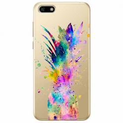 Etui na telefon Huawei Y5 2018 - Watercolor ananasowa eksplozja.