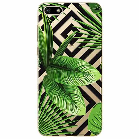 Etui na telefon Huawei Y5 2018 -  Egzotyczne liście bananowca.