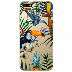 Etui na telefon Huawei Y5 2018 - Egzotyczne tukany.