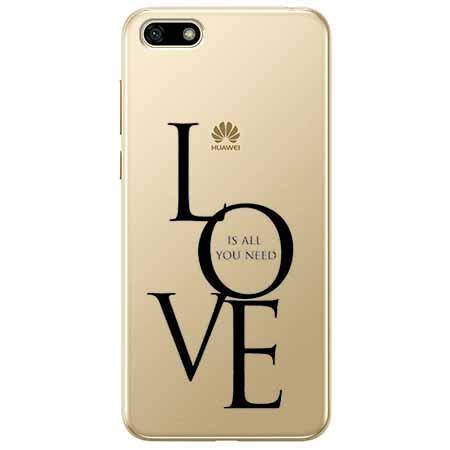 Etui na telefon Huawei Y5 2018 - All you need is LOVE.