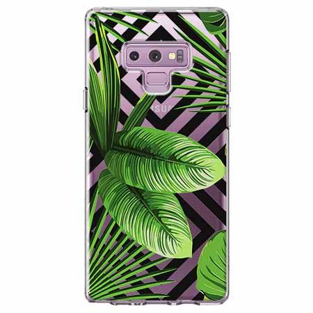Etui na Samsung Galaxy Note 9 -  Egzotyczne liście bananowca.