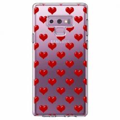 Etui na Samsung Galaxy Note 9 - Czerwone serduszka.