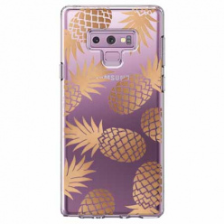 Etui na Samsung Galaxy Note 9 - Złote ananasy.