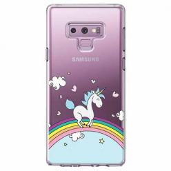Etui na Samsung Galaxy Note 9 - Jednorożec na tęczy.