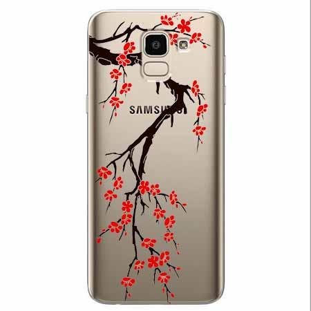 Etui na Samsung Galaxy J6 2018 - Krzew kwitnącej wiśni.