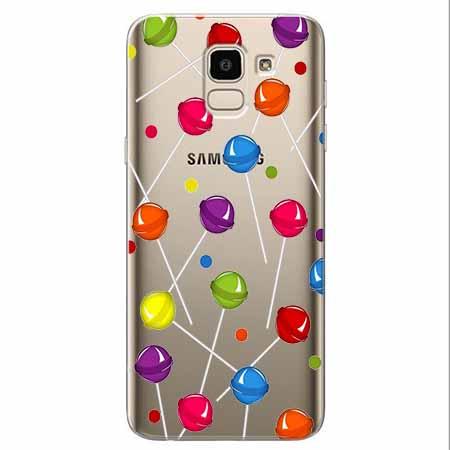 Etui na Samsung Galaxy J6 2018 - Kolorowe lizaki.