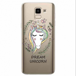 Etui na Samsung Galaxy J6 2018 - Dream unicorn - Jednorożec.