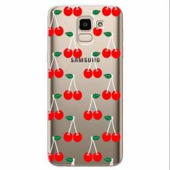 Etui na Samsung Galaxy J6 2018 - Wiśniowa plejada.