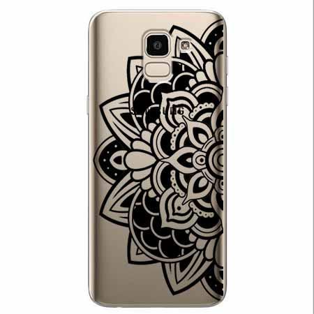 Etui na Samsung Galaxy J6 2018 - Kwiatowa mandala.