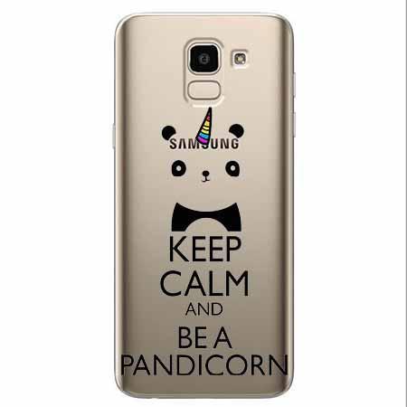 Etui na Samsung Galaxy J6 2018 - Keep Calm… Pandicorn.