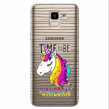 Etui na Samsung Galaxy J6 2018 - Time to be unicorn - Jednorożec.