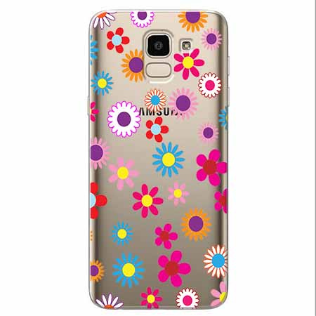 Etui na Samsung Galaxy J6 2018 - Kolorowe stokrotki.