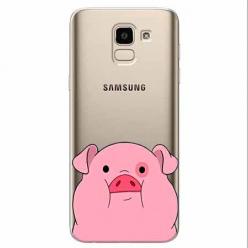 Etui na Samsung Galaxy J6 2018 - Słodka różowa świnka.
