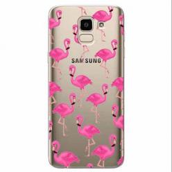 Etui na Samsung Galaxy J6 2018 - Różowe flamingi.