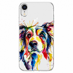 Etui na telefon Apple iPhone XR - Watercolor pies.
