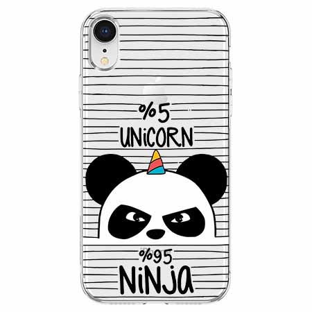 Etui na telefon Apple iPhone XR - Ninja Unicorn - Jednorożec.