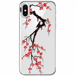 Etui na telefon Apple iPhone XS Max -  Krzew kwitnącej wiśni.