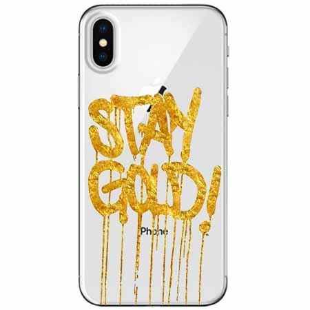 Etui na telefon Apple iPhone XS Max -  Stay Gold.