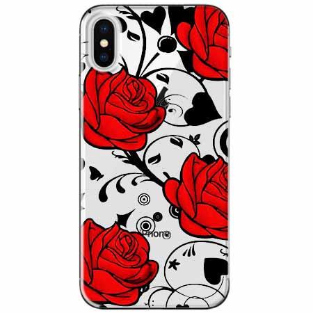 Etui na telefon Apple iPhone XS Max -  Czerwone róże.