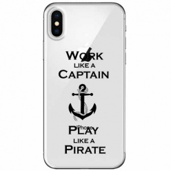 Etui na telefon Apple iPhone XS Max - Work like a Captain…