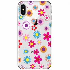 Etui na telefon Apple iPhone XS Max - Kolorowe stokrotki.