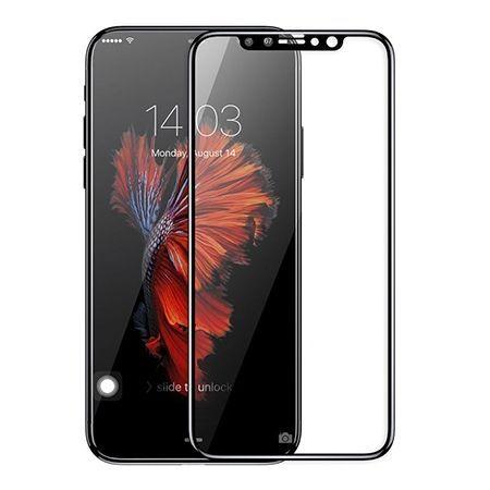 Hartowane szkło na cały ekran 3d iPhone XS - Czarny.