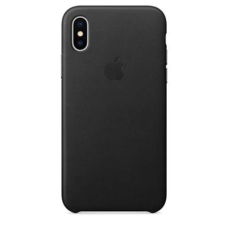 Oryginalne etui Apple na iPhone XS Leather Case - Skórzane Czarny
