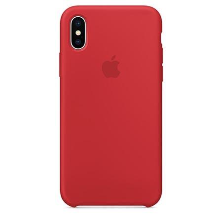 Oryginalne etui Apple na iPhone XS Silicone Case - Czerwony