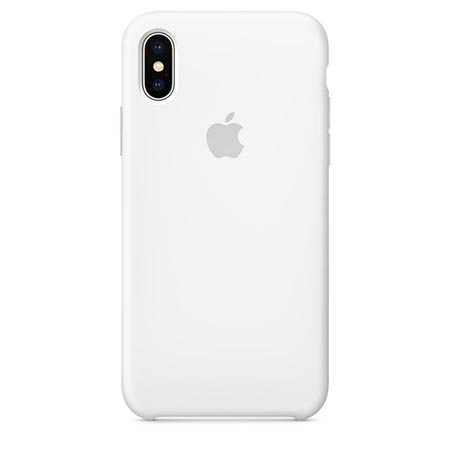 Oryginalne etui Apple na iPhone XS Silicone Case - Biały