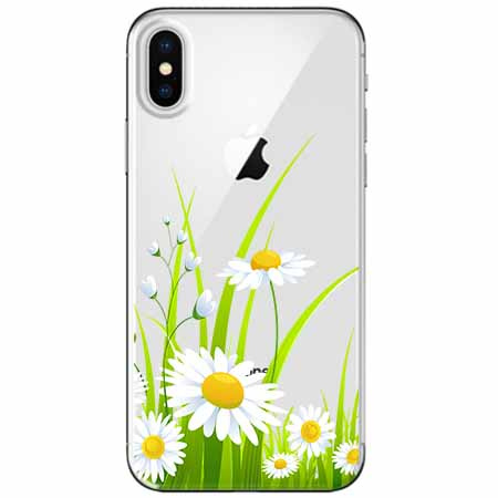Etui na telefon Apple iPhone XS - Polne stokrotki.