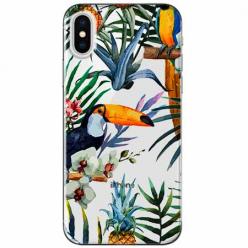 Etui na telefon Apple iPhone XS - Egzotyczne tukany.