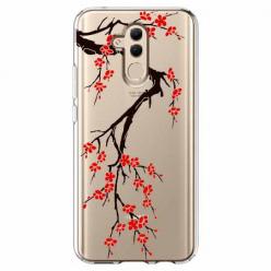 Etui na telefon Huawei Mate 20 Lite - Krzew kwitnącej wiśni.