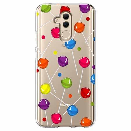 Etui na telefon Huawei Mate 20 Lite - Kolorowe lizaki.