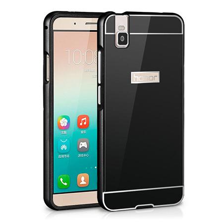 Bumper case na Huawei Honor 7i / ShotX - Czarny.