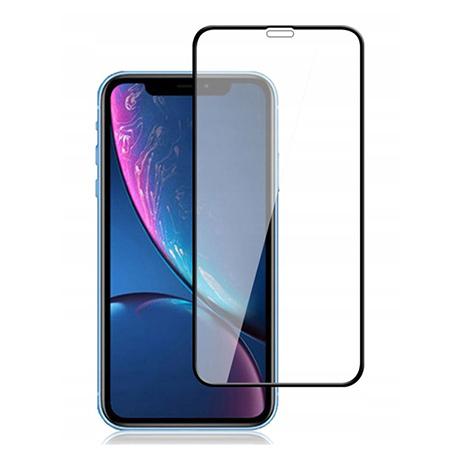 Apple iPhone XR - hartowane szkło 5D na cały ekran - Czarny.