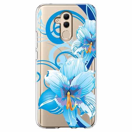 Etui na telefon Huawei Mate 20 Lite - Niebieski kwiat północy.