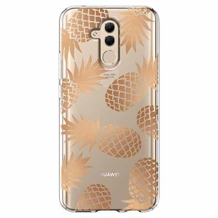 Etui na telefon Huawei Mate 20 Lite - Złote ananasy.