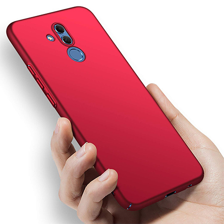 Etui na telefon Huawei Mate 20 Lite - Slim MattE - Czerwony.