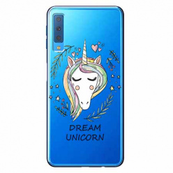 Etui na Samsung Galaxy A7 2018 - Dream unicorn - Jednorożec.