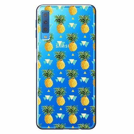 Etui na Samsung Galaxy A7 2018 - Ananasowe szaleństwo.